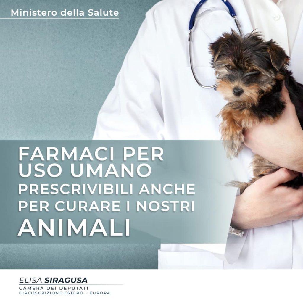 Farmaci per uso umano prescrivibili anche per i nostri animali