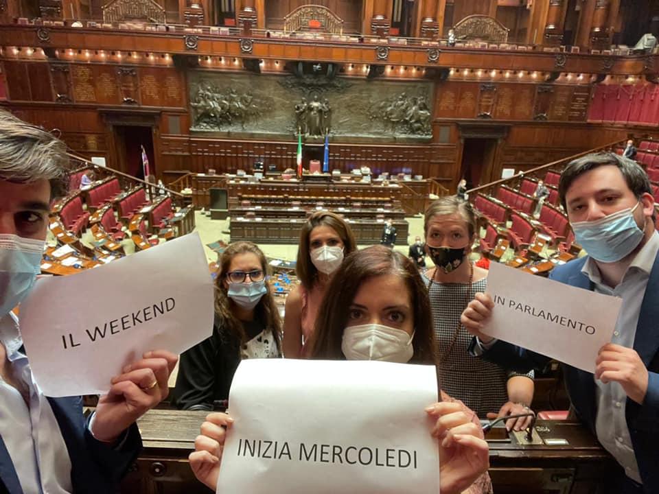 Il weekend in Parlamento inizia mercoledì