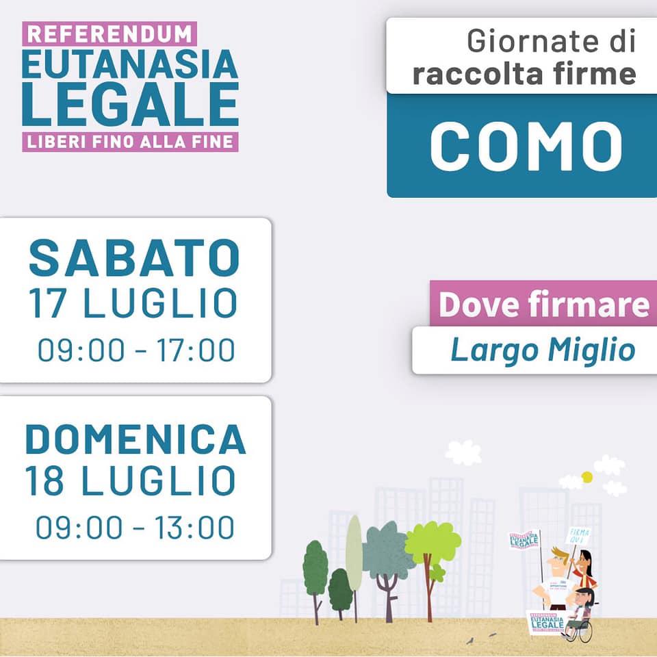 Eutanasia legale: raccolta firme a Como