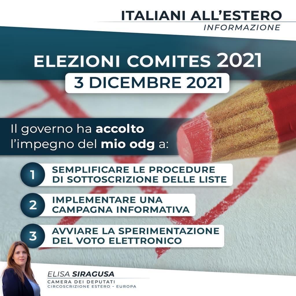 Elezioni Comites: nessun ulteriore rinvio, e tre impegni per il Governo