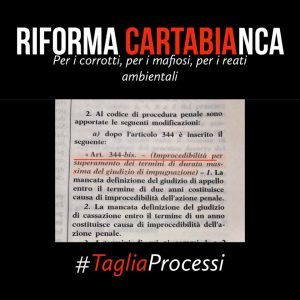 La schiforma Cartabia introduce l'istituto dell'improcedibilità